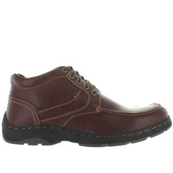 Deer Stags Waverly   Redwood Leather Lace Up Moc Boot