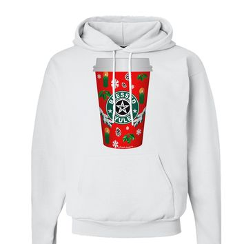 Blessed Yule Red Coffee Cup Hoodie Sweatshirt by
