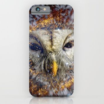 Mystic Owl iPhone & iPod Case by lostanaw