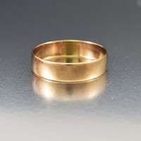 Edwardian 10K Gold Wedding Band Ring C 1900