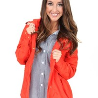 Orange Gone With The Windbreaker Jacket | Monday Dress Boutique