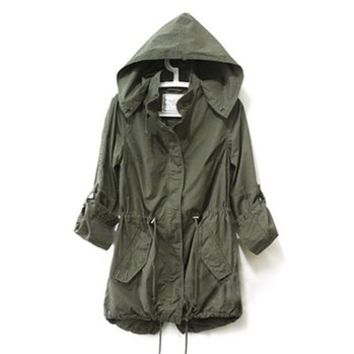 d38ca6faf Vedem Women s Hooded Drawstring Military from Amazon