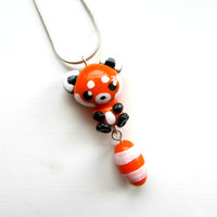 Red Panda Necklace Cute Red Panda Charm Red Panda Pendant