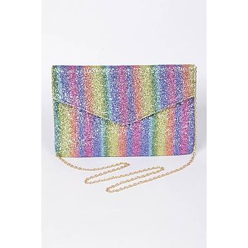 Sparkling Rainbow Clutch