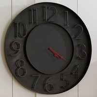 Modern Black Metal Wall Clock