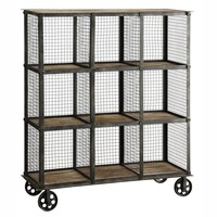 Industria Metal & Wood Bookcase
