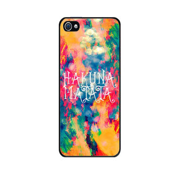 Handmade case with custom design of Hakuna Matata Painted Clouds for iPhone 5 Case For Galaxy S4 Galaxy S3 iPhone 4/4S Case Hakuna Matata