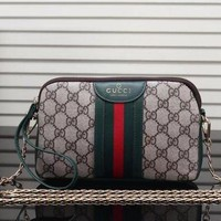 Gucci Women Fashion Leather Chain Satchel Shoulder Bag Crossbody Clutch Bag
