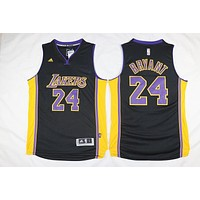 New Los Angeles Lakers #24 Kobe Bryant Swingman Basketball Jersey Black