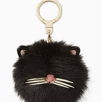 cat pouf keychain
