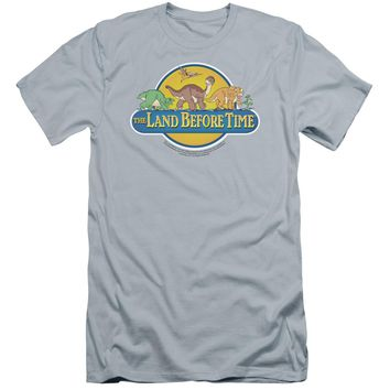 Land Before Time - Dino Breakout Premium Canvas Adult Slim Fit 30/1 Shirt Officially Licensed T-Shirt