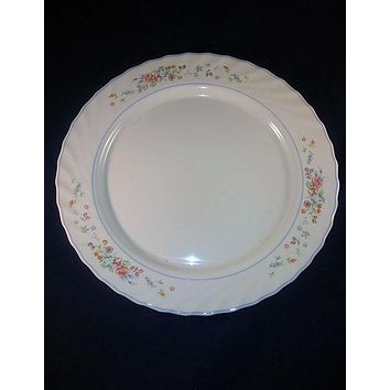 "Vintage Arcopal France ""Victoria"" Milk Glass Serving Platter"
