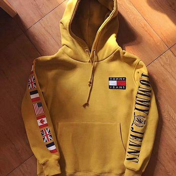 Tommy Hilfiger Fashion Casual Women Men Hot Hoodie Cute Sweater G-1