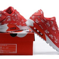 Nike Air Max 90 537384-002 Red Running Sneaker-1