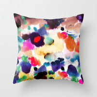 Ink Mix II Throw Pillow by Grace