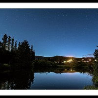 Rollinsville Colorado Starlight View Framed Print