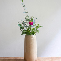 Large Wood Fired Pottery Vase, Natural