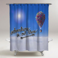 Adventure is Out There Up Custom Shower Curtain Print On