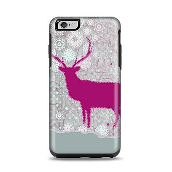 The Pink Stitched Deer Collage Apple iPhone 6 Plus Otterbox Symmetry Case Skin Set