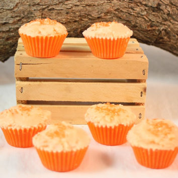 Cupcake Wax Tarts, Orange Cupcake Tarts, Fake Food