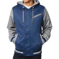 Aperture Upsetter Blue & Grey 10K Varsity Tech Fleece Jacket
