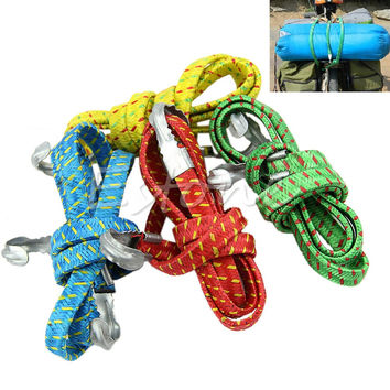 1PC 120CM Bike Retractable Elastic Rope Motorcycle Luggage Straps for Suitcase Band Rode Ligature Tied Stacking Shelf with Hooks