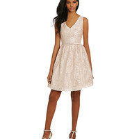 Eliza J Lace Fit-and-Flare Dress | Dillards.com