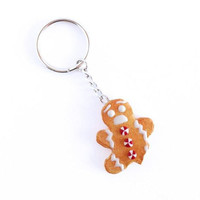Gingerbread Man Cookie Keychain