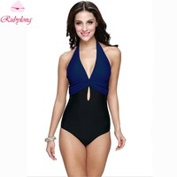 Female Swimwear Brazilian Sexy Halter Vintage Swimsuit One-Piece Suits Women Retro One Piece Swimsuit Beach Swim Wear Monokini