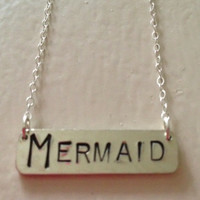 Kate Davis Jewelry MER Bar Mermaid Necklace Silver