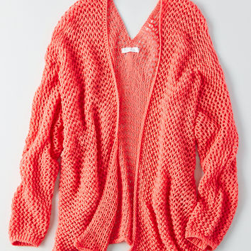 Don't Ask Why Crochet Cardigan, Coral