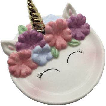 Unicorn Ceramic Trinket Tray
