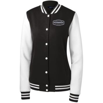 The Ultimate Fan Of The New England Patriots Women's Fleece Letterman Jacket
