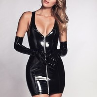 ROXY VINYL DRESS BLACK