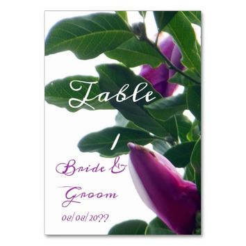 Blossoming Magnolias Wedding Table Card