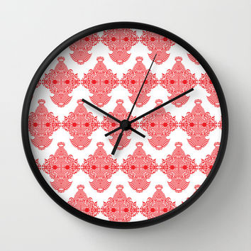 Monkey Business Wall Clock by Rui Faria | Society6