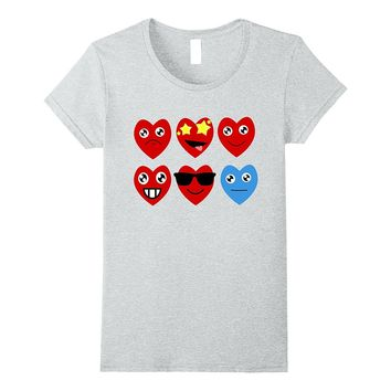 Cute Heart Emojis T-Shirt for Valentine's Day