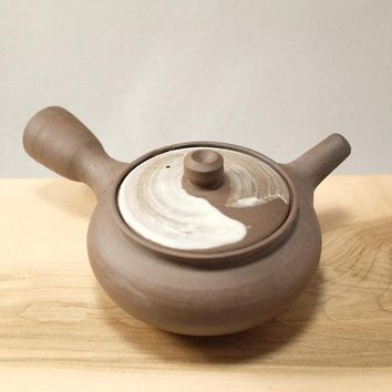 Handmade Raw Dark Clay Stoneware Teapot by Mark Foster