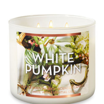 WHITE PUMPKIN3-Wick Candle