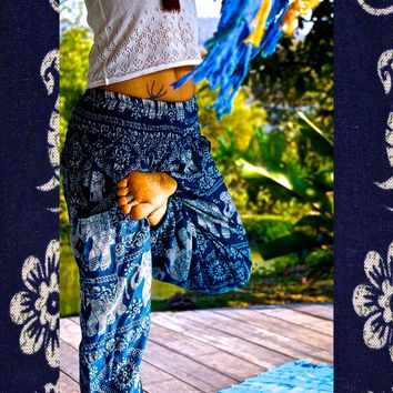 Elephant Pants // Hippie Pants // Harem Pants // Bohemian Clothing // Boho Chic // Yoga Pants // Meditation Pants
