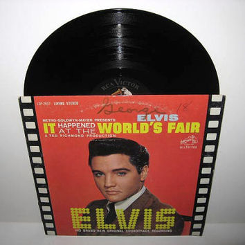 Vinyl Record Album ELVIS  It Happened at the by JustCoolRecords