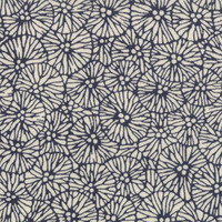 Kasuri Blossoms, in Indigo, by moda fabrics, one yard listing