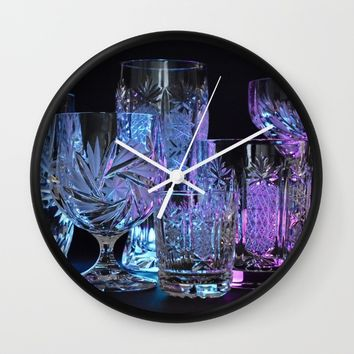 Glasses Wall Clock by Mixed Imagery