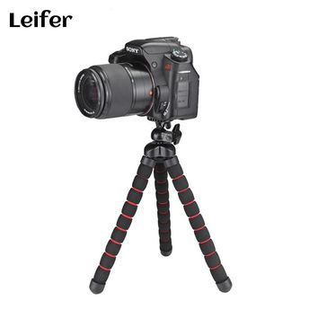 Leifer Multifunction Portable Octopus Tripod for Phone iPad tablet for Gopro SJCAM Xiaoyi Nikon Canon SONY Digital Action Camera