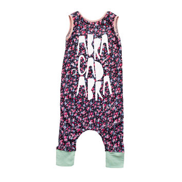 "Rags to Raches ""Abracadabra"" Tank Romper - Floral"