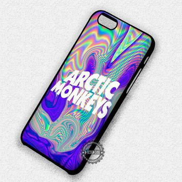 Psychedelic Logo Arctic Monkeys Band - iPhone 7 6 5 SE Cases & Covers #music #arc