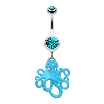 Evil Octopus Belly Button Ring