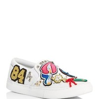 MARC JACOBSMercer Appliqué Embellished Slip On Sneakers