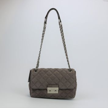 Michael Kors Sloan Quilted Suede Shoulder Bag