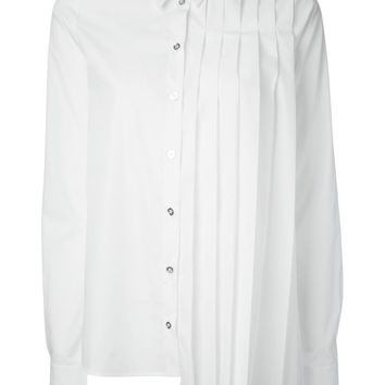 MM6 By Maison Martin Margiela asymmetric pleated shirt